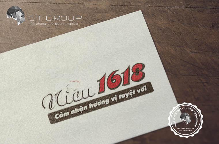 Thiết kế logo quán niêu 1618