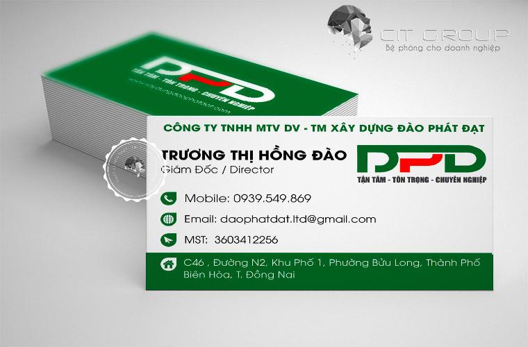 Thiết kế logo công ty xây dựng Đào Đạt Phát