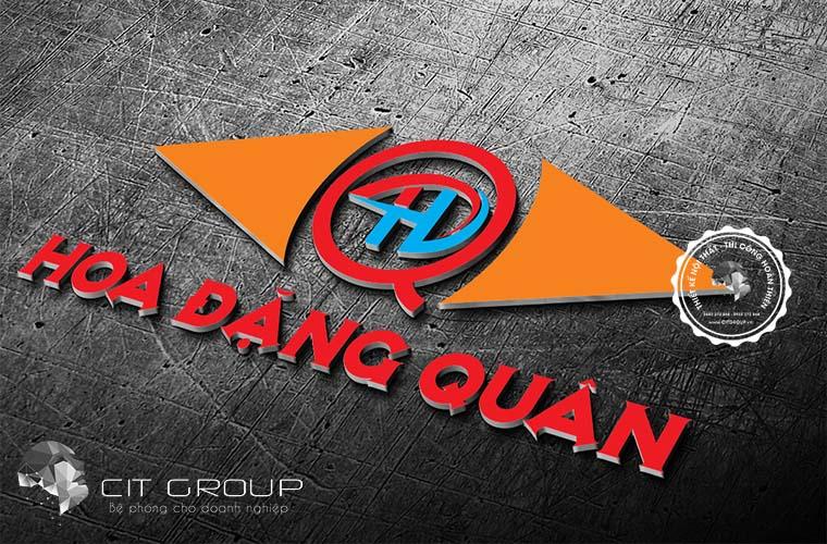 Thiết kế logo Hoa Đặng Quân