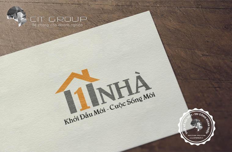 Thiết kế logo công ty một nhà
