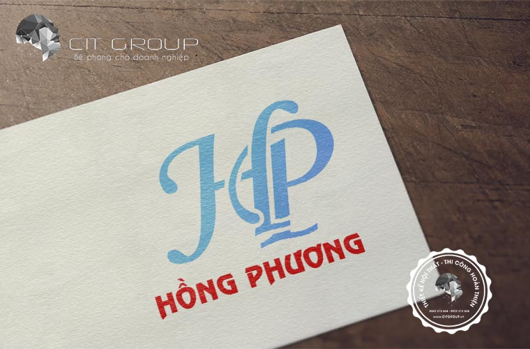 Thiết kế logo Hồng Phương