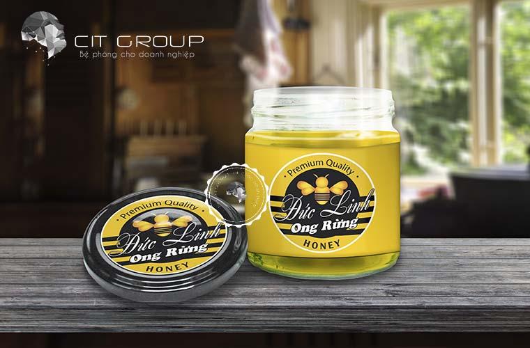 Thiết kế logo mật ong Đức Linh