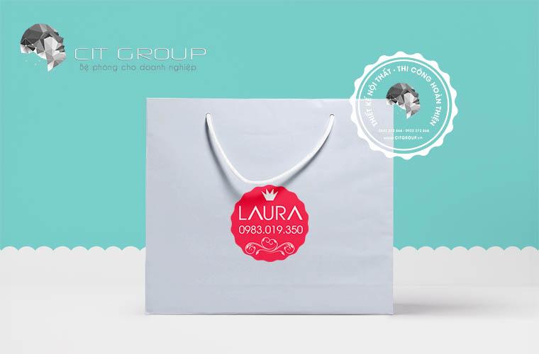 Thiết kế logo mỹ phẩm LAURA