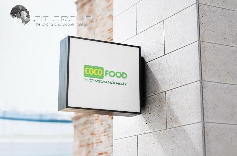 Thiết kế logo siêu thị cocomart