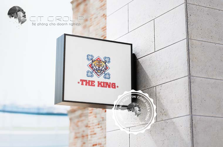 Thiết kế logo gym the king