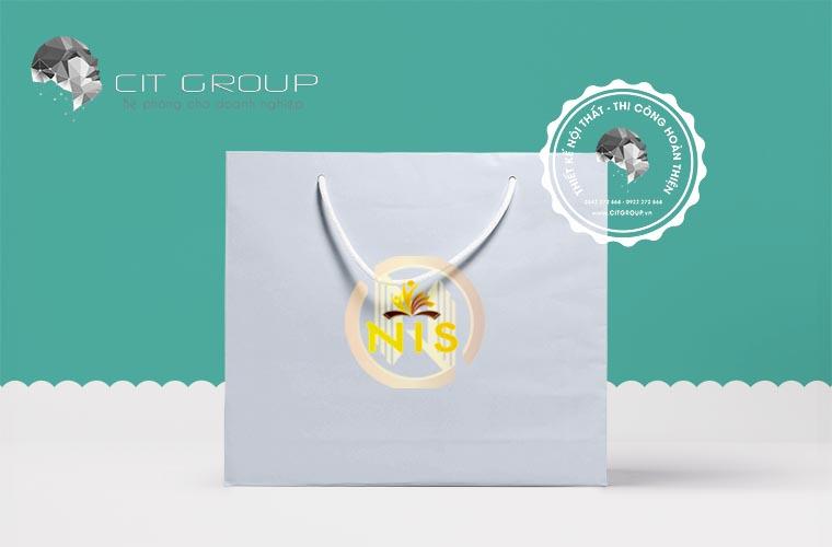 Thiết kế logo trung tâm NIS