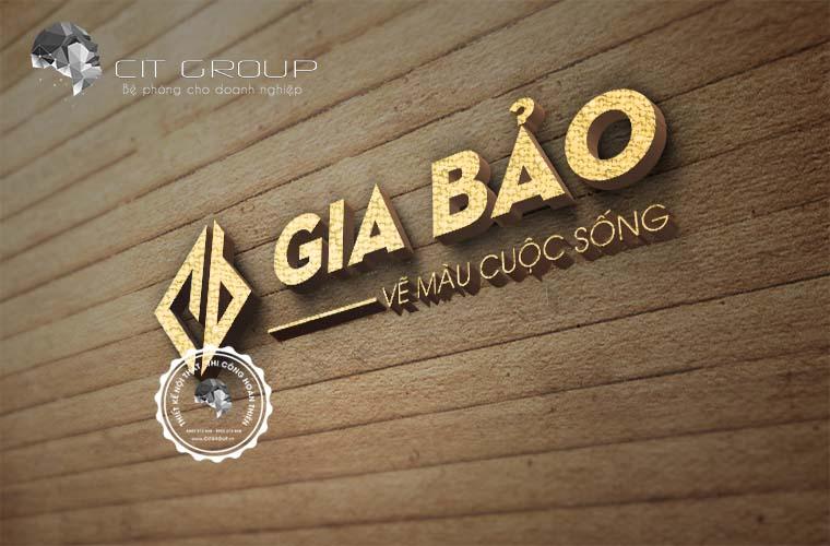 Thiết kế logo công ty Sơn Gia Bảo