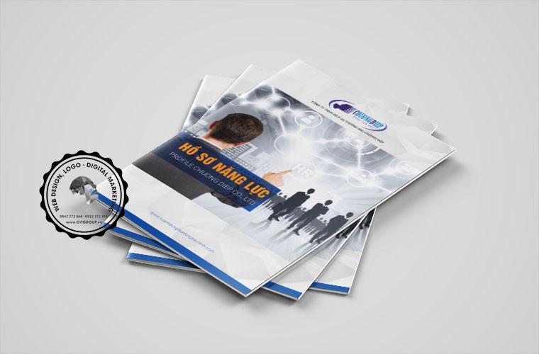 Thiết kế hồ sơ năng lực công ty Chương Diệp