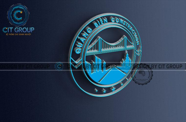 Thiết kế logo công ty xây dựng Quảng Biên Hòa