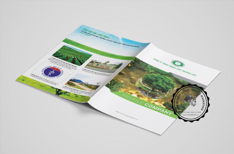 Thiết kế hồ sơ năng lực công ty môi trường Việt