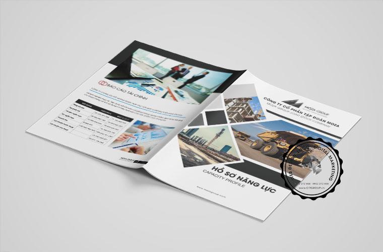 Thiết kế hồ sơ năng lực công ty Moza