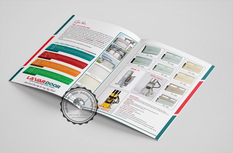 Mẫu catalogue công ty cửa cuốn Lavardoor Biên Hòa