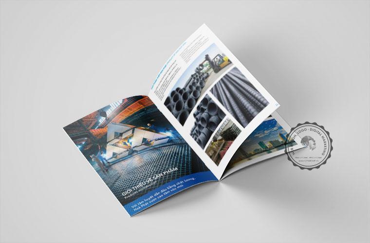 Thiết kế catalogue công ty sản xuất thép Hoà Phát