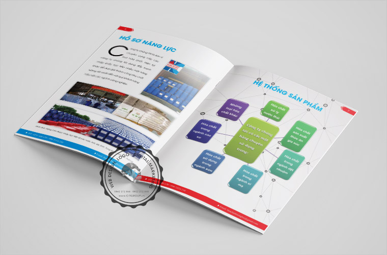 Mẫu catalogue công ty hóa chất Trương Lộc