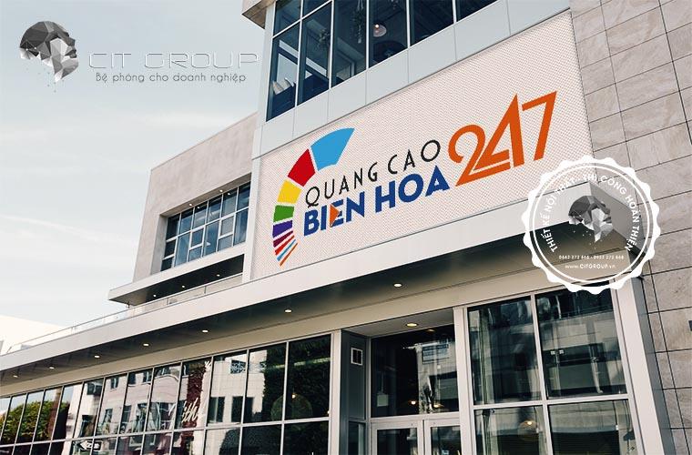 Thiết kế logo công ty quảng cáo Biên Hòa 247