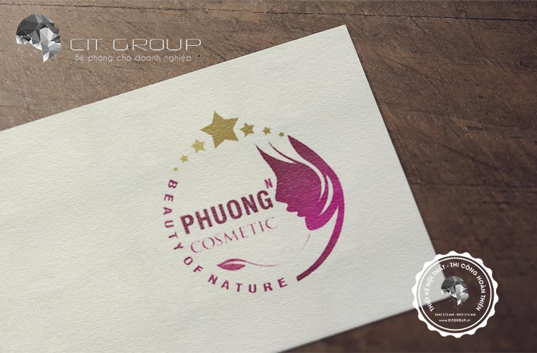 Thiết kế logo shop mỹ phẩm Phương Cosmetic