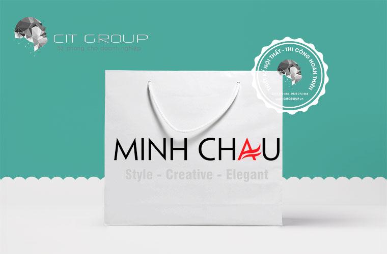 Thiết kế logo shop thời trang Minh Châu