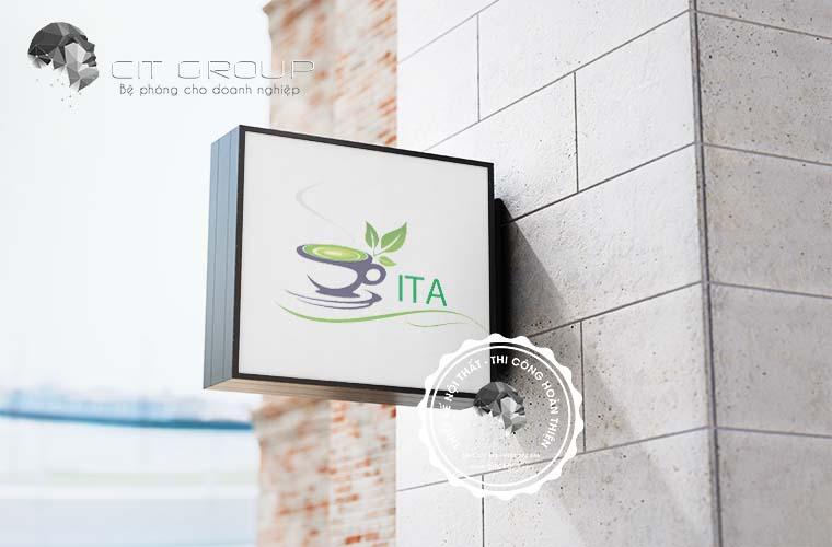 Thiết kế logo trà sữa ITA