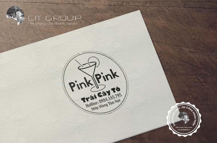 Thiết kế logo Trái Cây Tô Pink