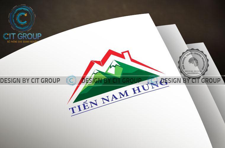 Mẫu logo xây dựng Tiến Nam Hưng