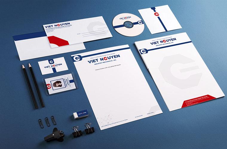 Hệ thống nhận diện công ty cơ khí Việt Nguyễn