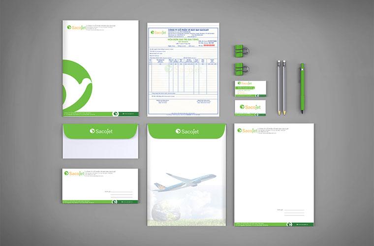 Hệ thống nhận diện thương hiệu công ty vận chuyển
